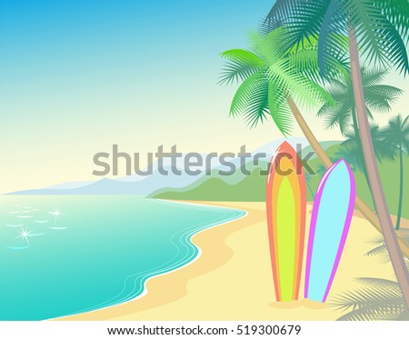 tropic beach summer landscape