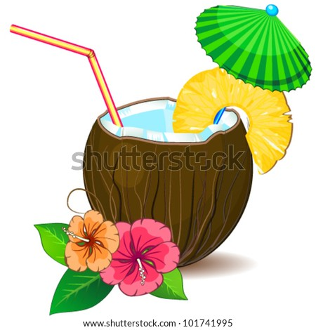 Tropic cocktail pina colada
