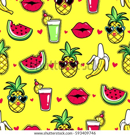 tropic seamless pattern with