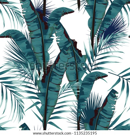 tropic summer painting seamless