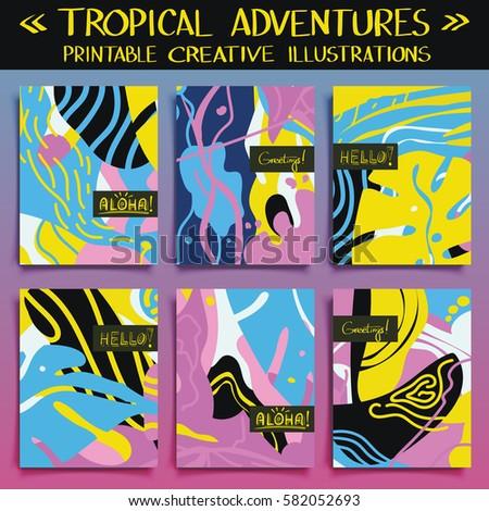 tropical adventures   set of