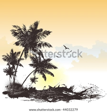 Tropical backgraund - stock vector