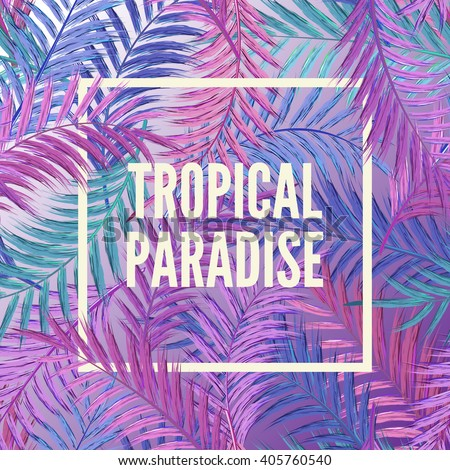 tropical background of palm