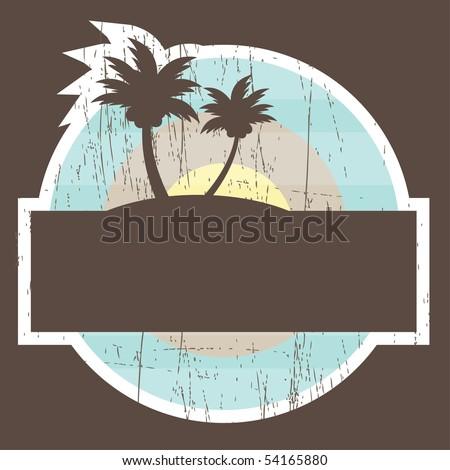 Tropical Beach Banner. vector illustration