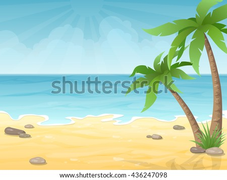 tropical beach vacation nature