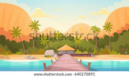 tropical beach with water