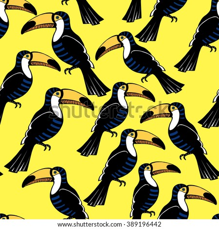 tropical bird pattern