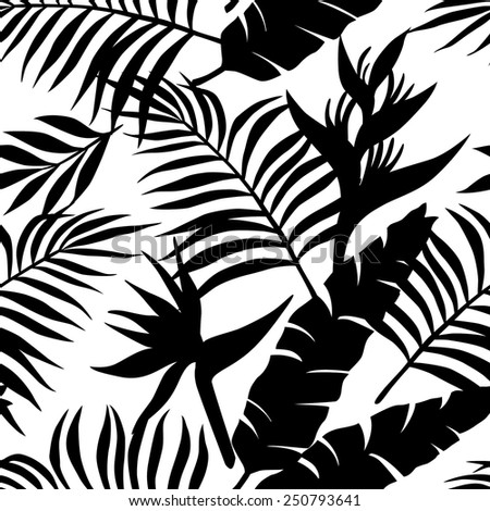 tropical black and white