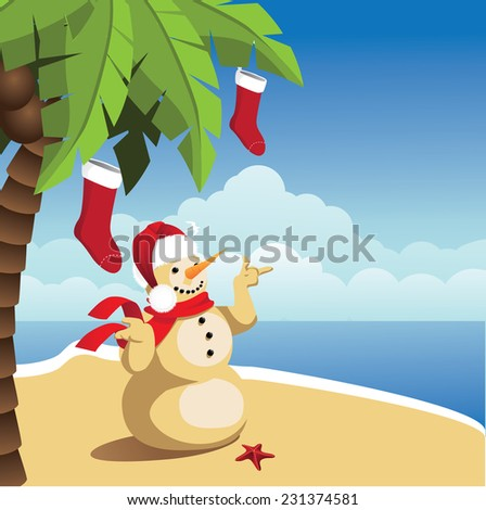 tropical christmas background
