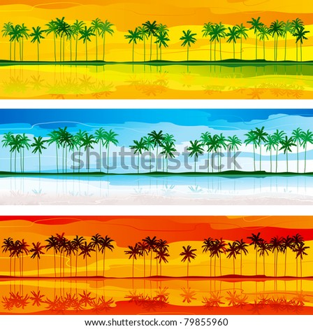 tropical coast horizontal