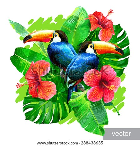 tropical composition with