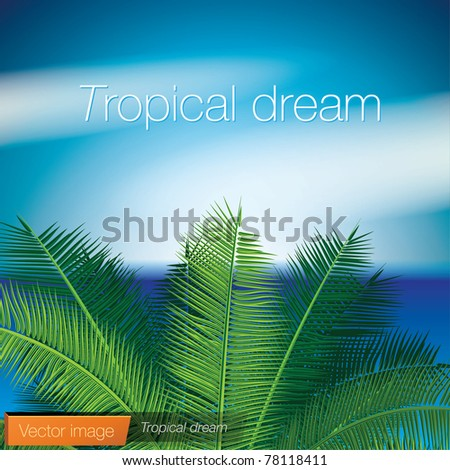 Tropical dream. Vector image