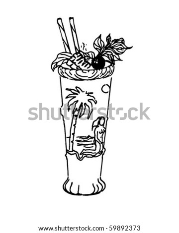 Drink - Retro Clip Art
