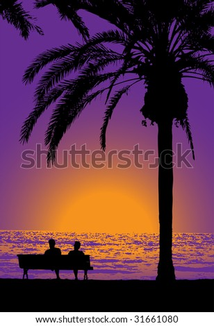 tropical evening  gradiented