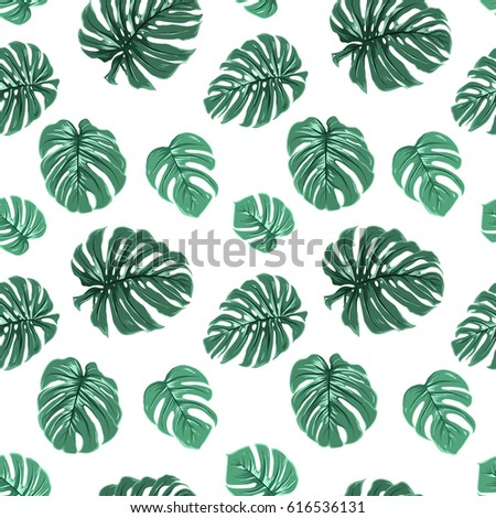 tropical exotic bright green