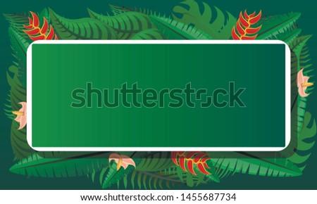 Tropical exotic concept banner. Cartoon illustration of tropical exotic vector concept banner for web design