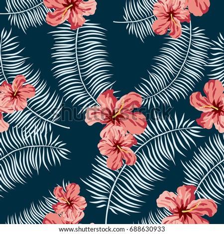 tropical exotic hibiscus flower