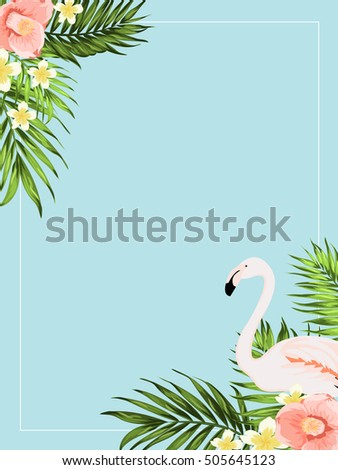 tropical exotic invitation card