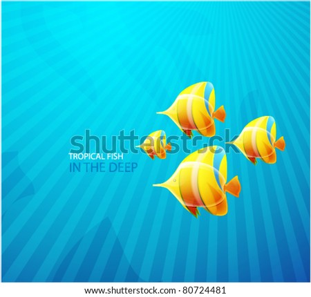 Tropical fish. Abstract background