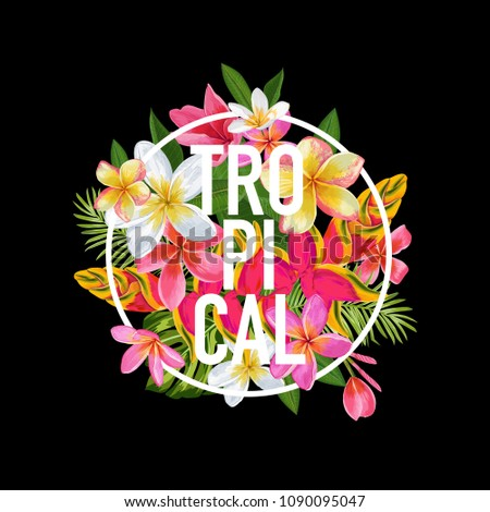 tropical floral design for t