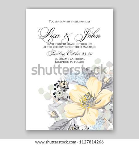 Tropical floral wedding invitation vector card template hibiscus aloha luau hawaii summer