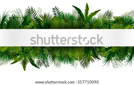 tropical foliage floral design