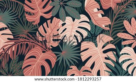 tropical forest art deco