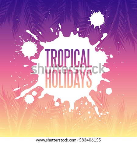 tropical holidays illustration