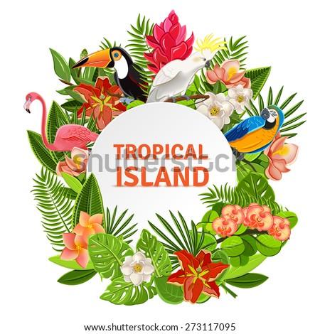tropical island circlet of
