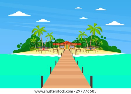 tropical island long pier