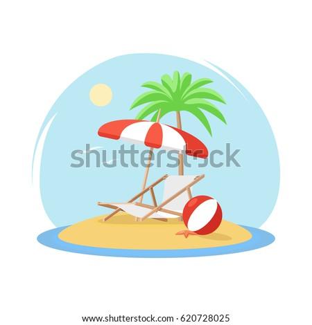 tropical island with palm tree