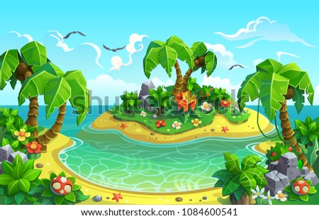 tropical islands with fantastic