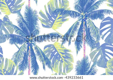 tropical jungle palm leaves