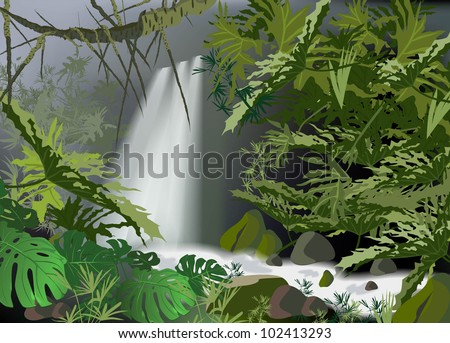tropical landscape overlooking
