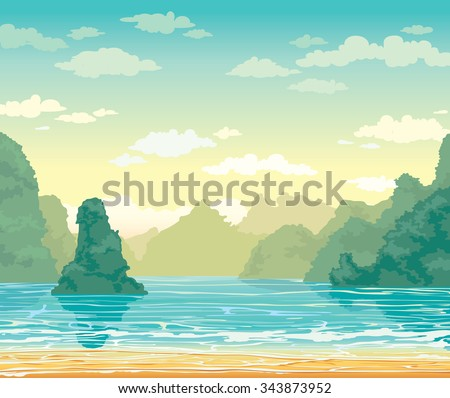 tropical landscape with