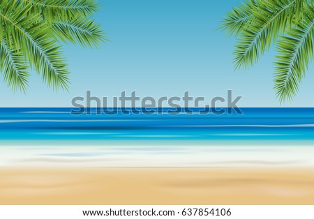 tropical landscape with sea