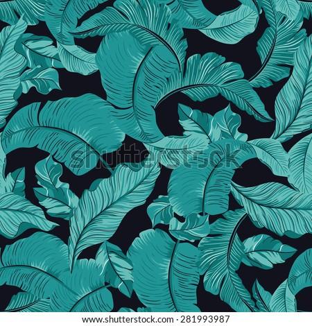 tropical leaf print pattern