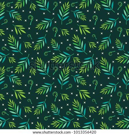 tropical leaf seamless pattern