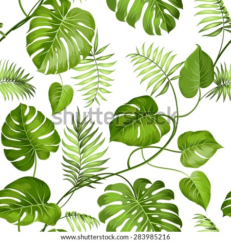 tropical leaves design for