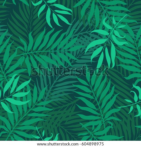 tropical leaves  night jungle