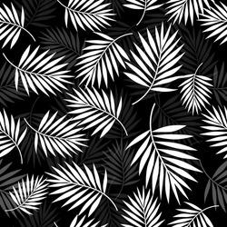 Tropical palm leaf seamless pattern