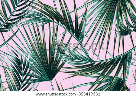 stock-vector-tropical-palm-leaves-seamless-vector-floral-pattern-background