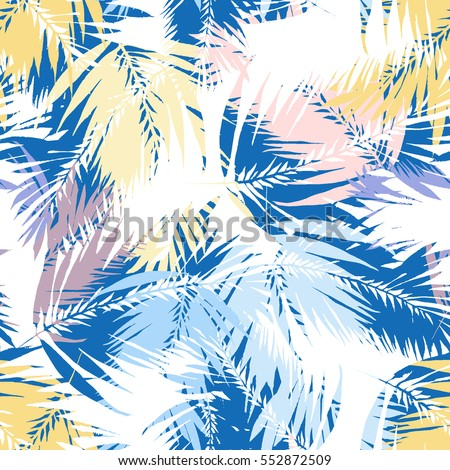tropical palm seamless vector