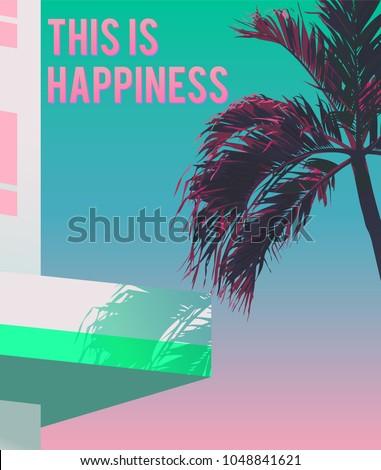 tropical palm tree  hotel