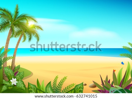 tropical paradise island sandy