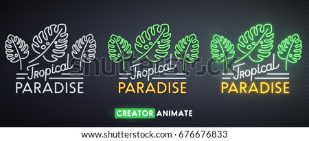 tropical paradise neon sign