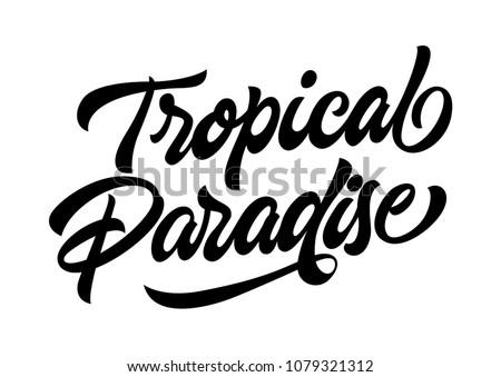 tropical paradise travel banner