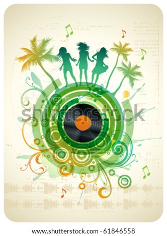 Tropical party. Abstract background.