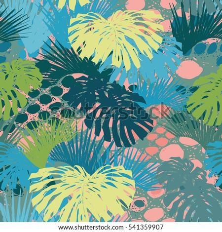 tropical pattern green jungle