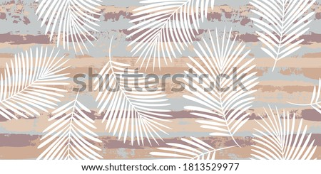 tropical pattern  palm leaves